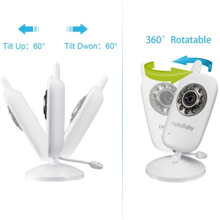 Wireless Hello Baby monitor with digital camera